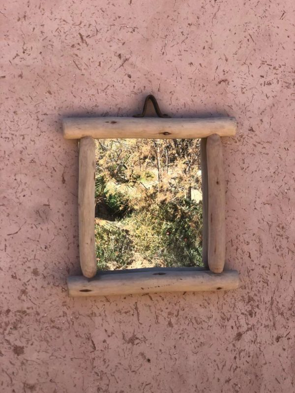 Miroir en bois eucalyptus