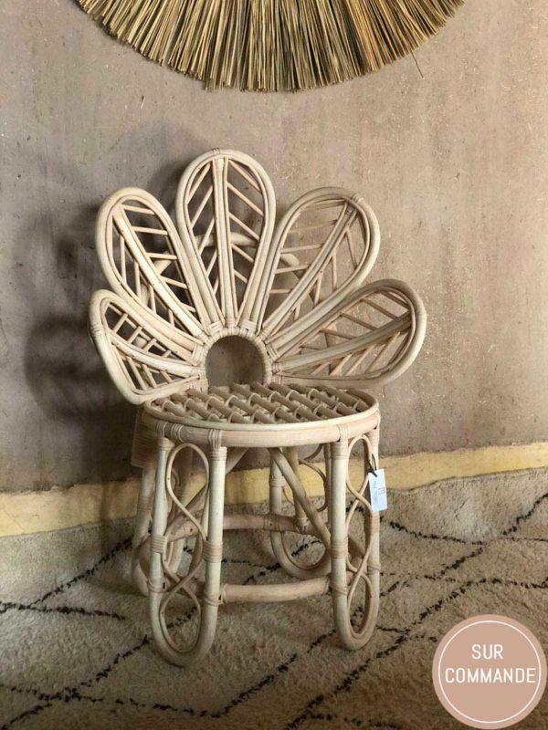 Chaise Fleur Rotin