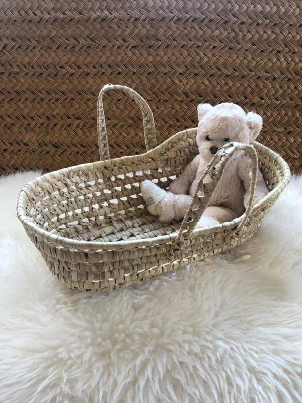 Couffin pour poupée feuille de palmier